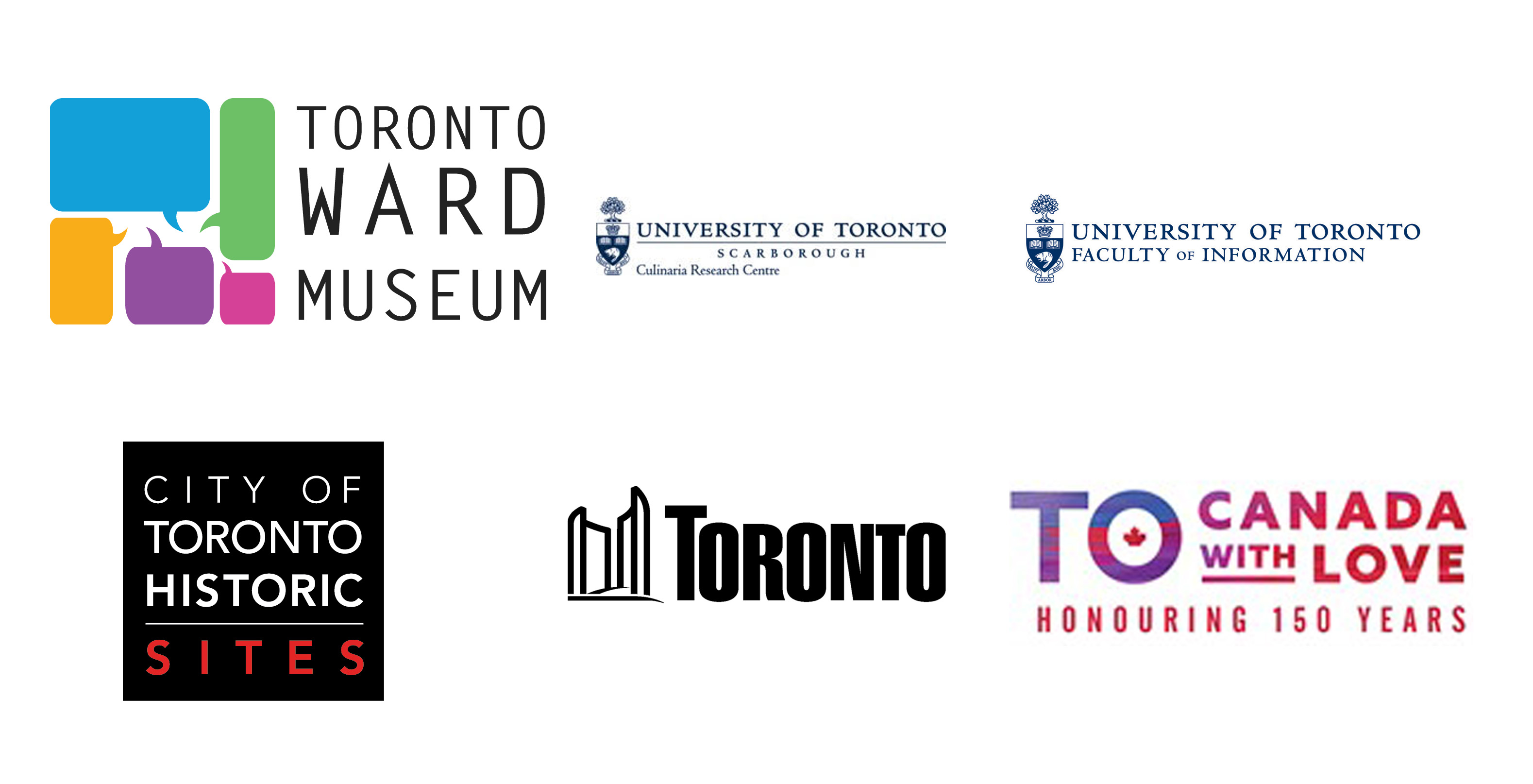 Dishing Up Toronto Ward Museum and City of Toronto partner logo combo