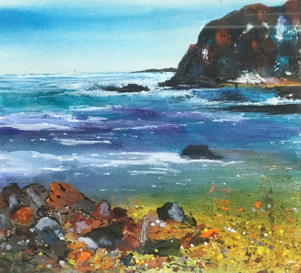 Creating texture in watercolour with Caroline Furlong