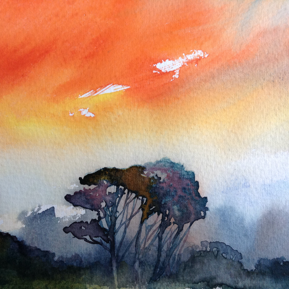 Workshop on Watercolour and Ink with Lesley Rumble