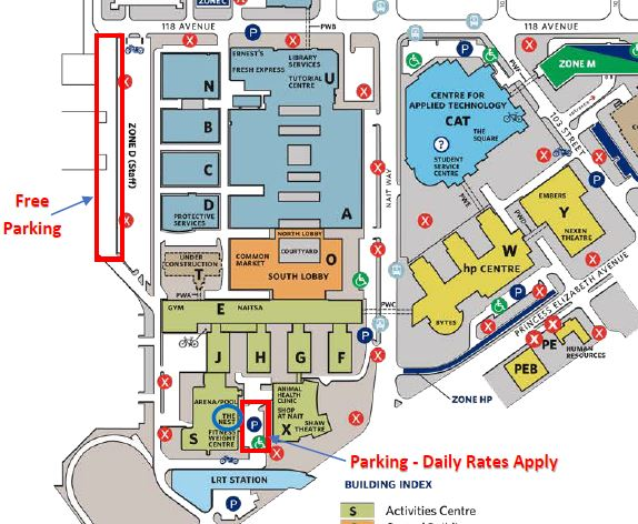 NAIT Parking details