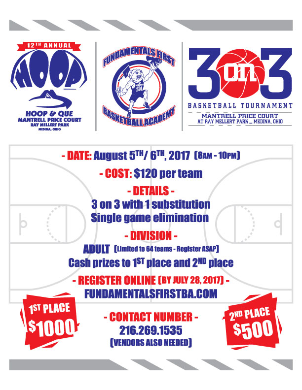 12th Annual Hoop & Que Adult Basketball Tournament