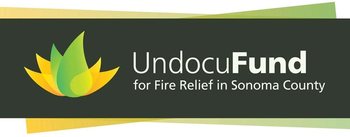 undocufund logo with forest green background