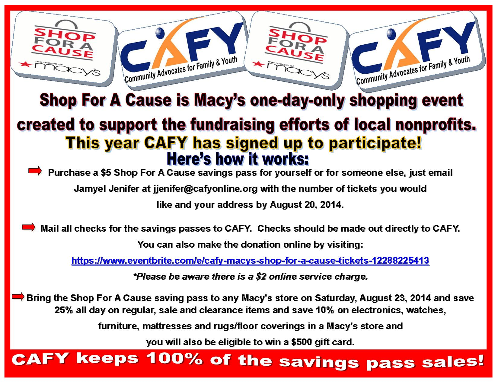 Shop for a Cause Flier