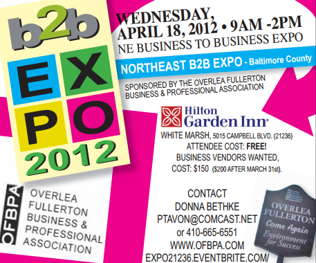 B2B Expo April 18 in White Marsh