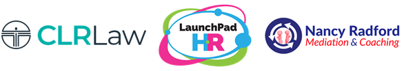 logos for CLR law, Launchpad & Nancy Radford