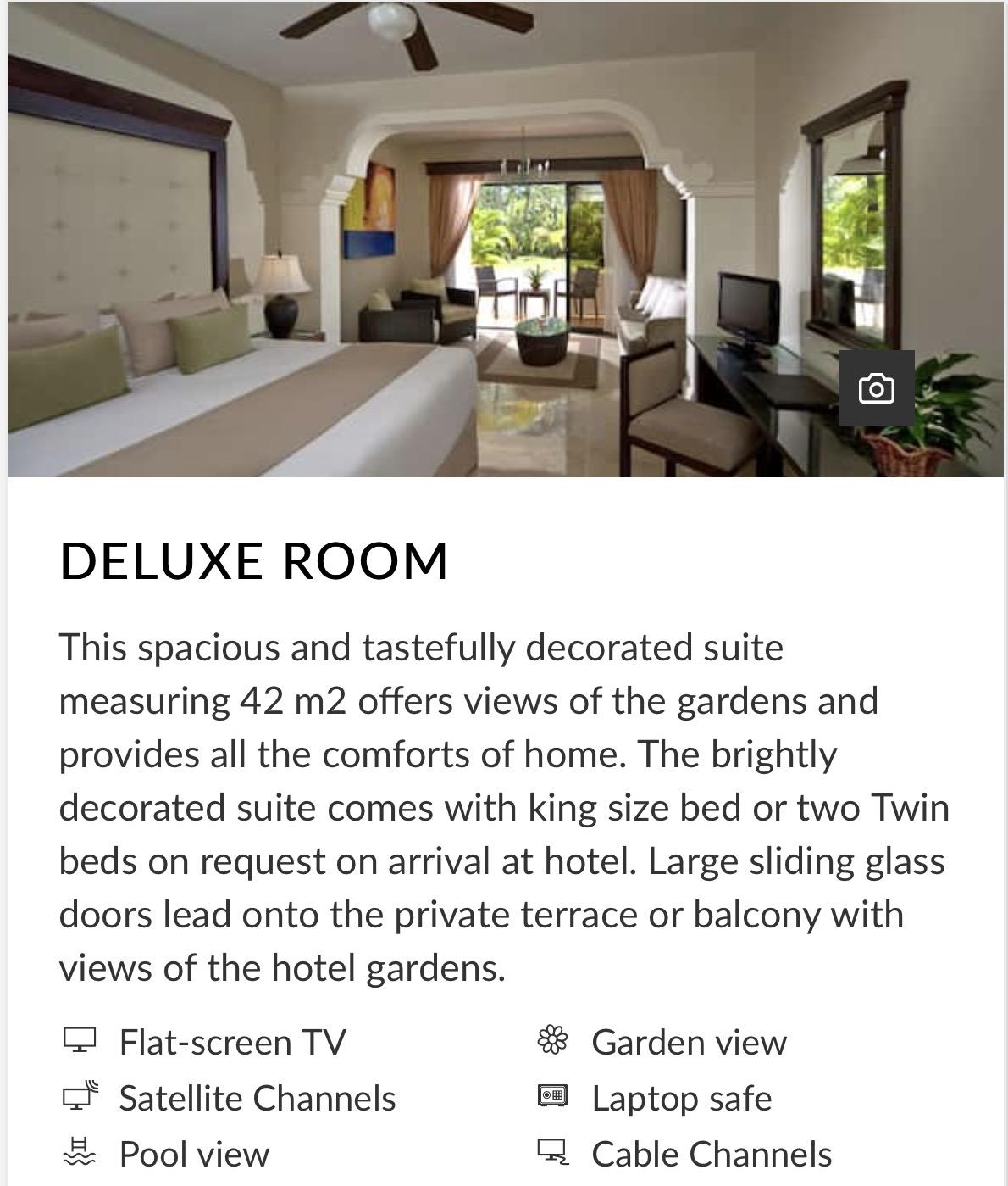 Melia Deluxe Room