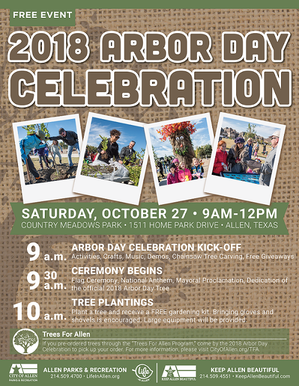 2018 Arbor Day Celebration Flier