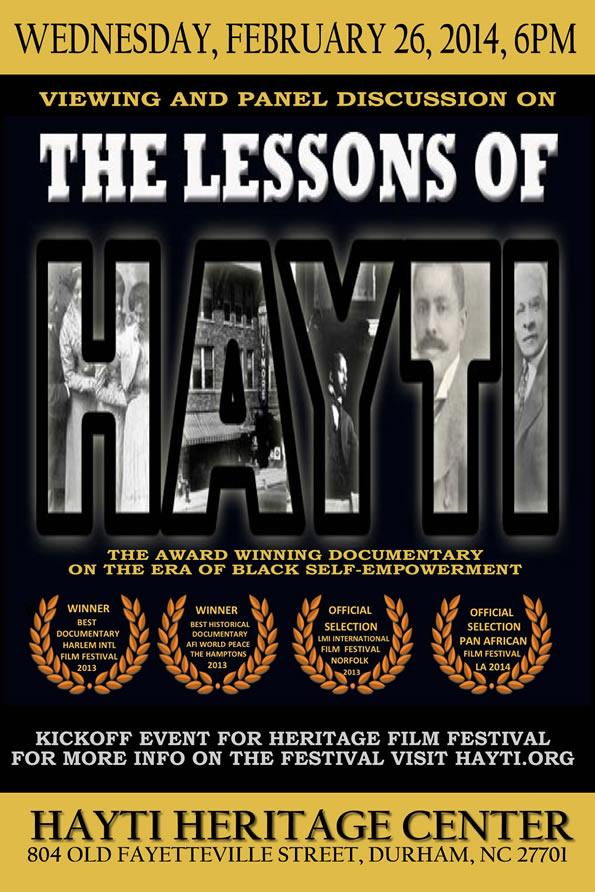 Lessons of Hayti