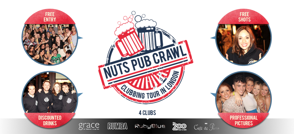 Nuts Pub Crawl London