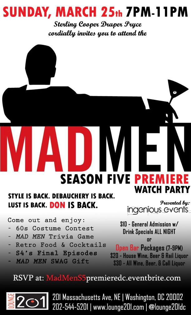 MAD MEN Season 5 Premiere Watch Party