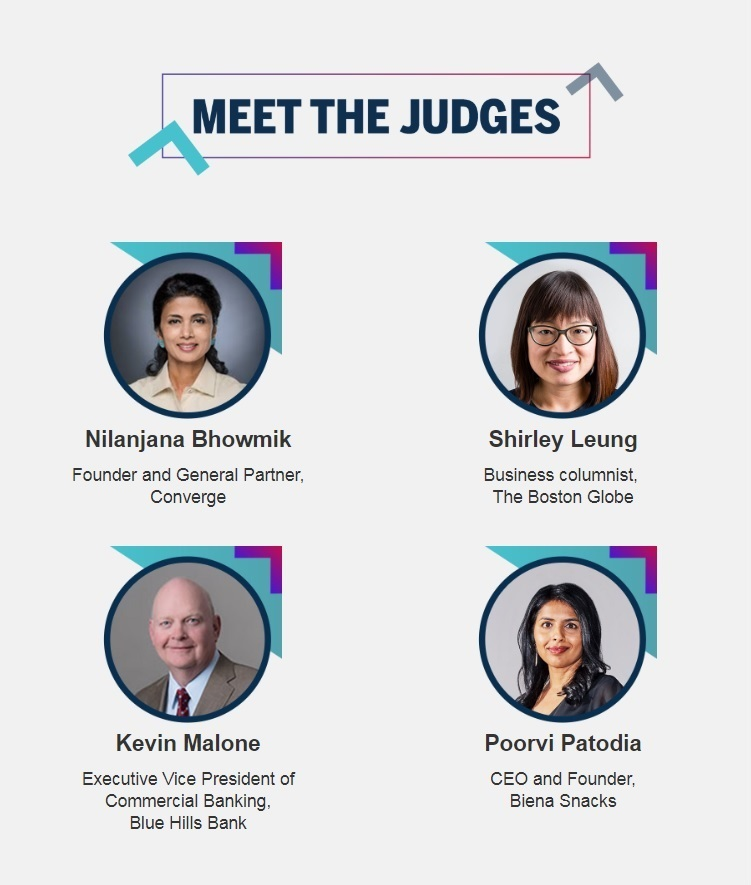 Nilanjana Bhowmik, Founder and General Partner at Converge; Shirley Leung, Business columnist at  The Boston Globe;  Kevin Malone, Executive Vice President of Commercial Banking at Blue Hills Bank; and Poorvi Patodia, CEO and Founder of  Biena Snacks