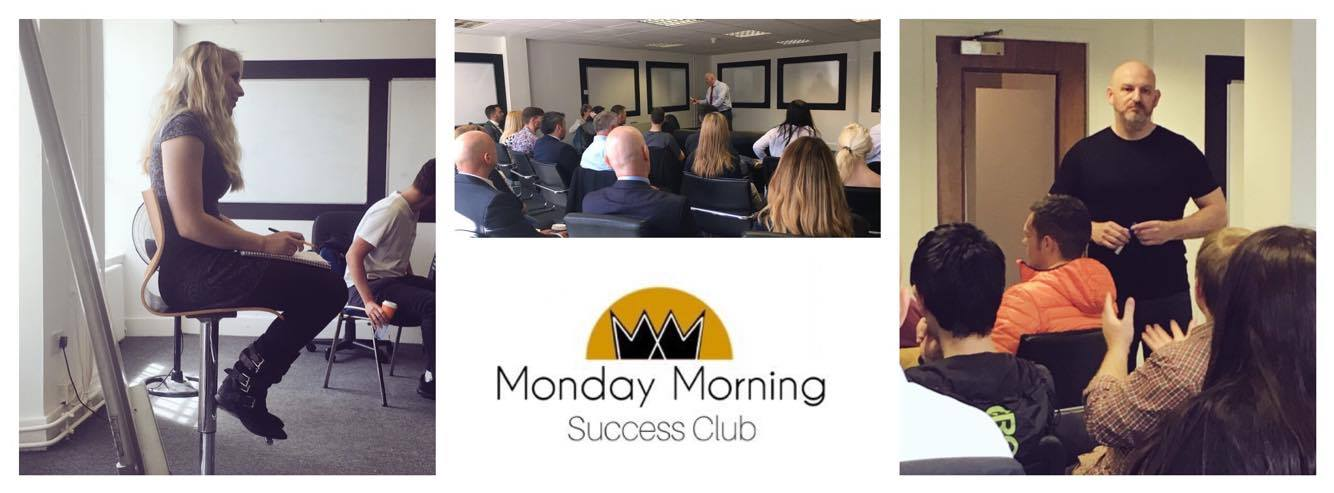 A typical session at the Monday Morning Success Club