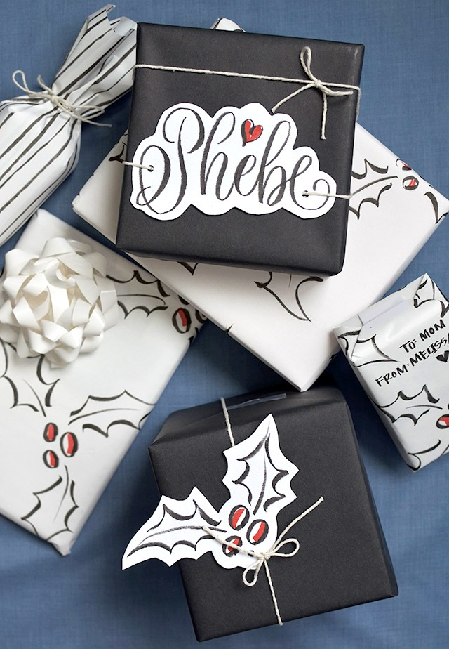 Gift tag calligraphy