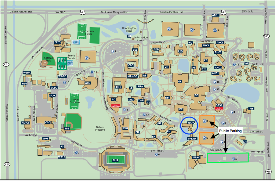 FIU Public Parking Map