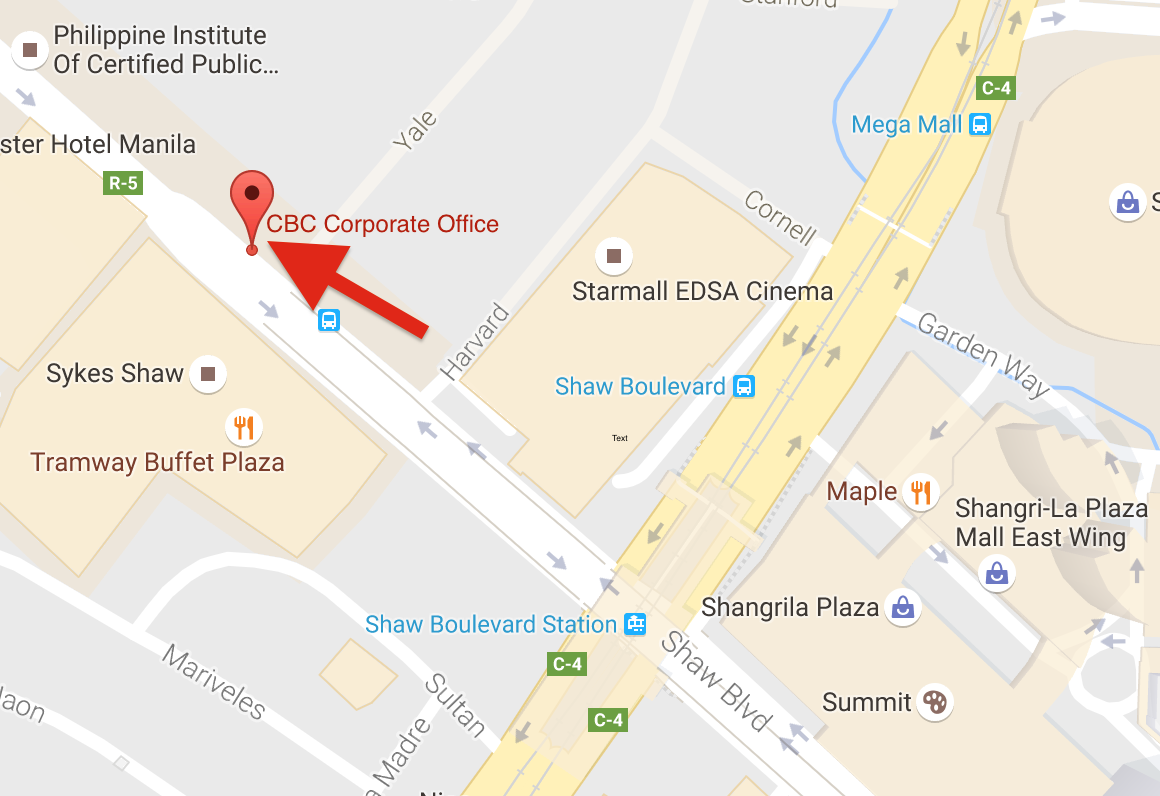 CBC Corporate Center - Map