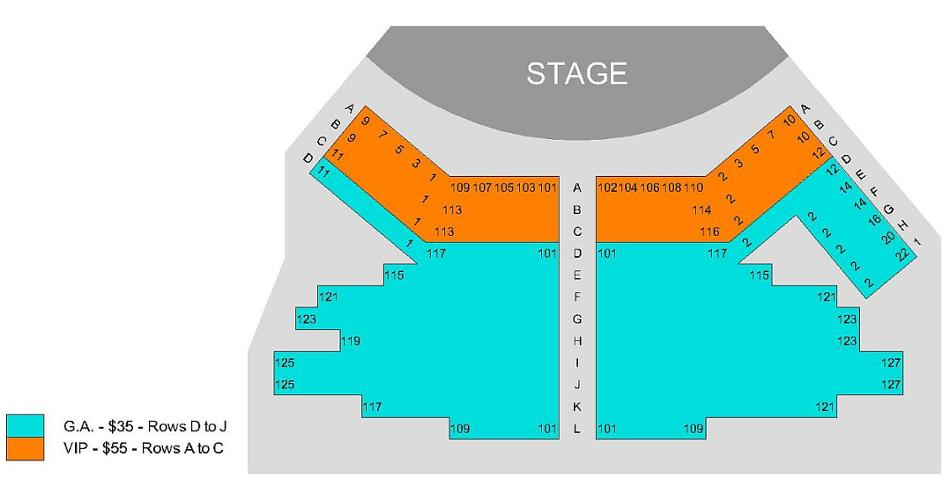 Seating Chart for the Concert