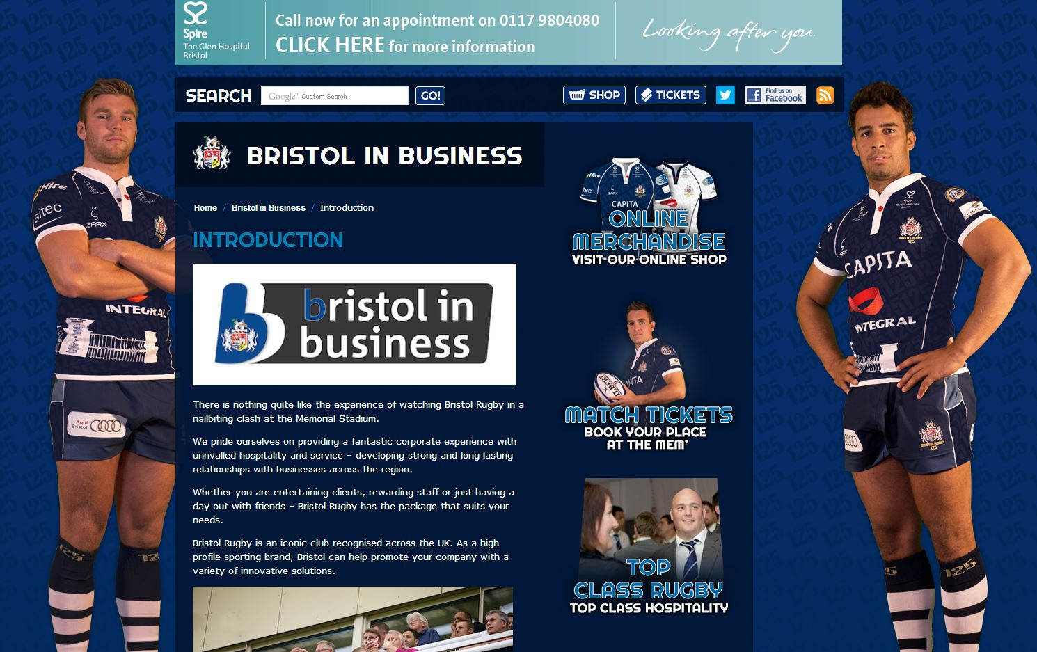Bristol Rugby Website