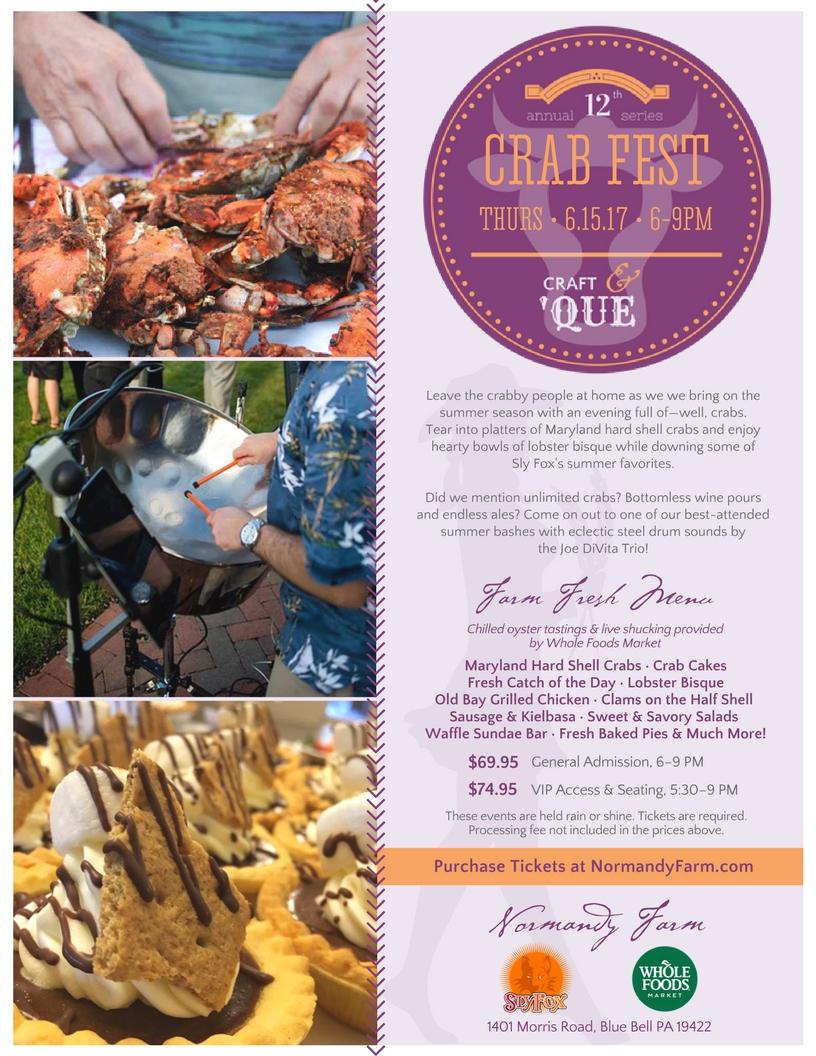 Normandy Farm's Crab Fest | The Craft & 'Que Series Tickets, Thu, Jun 15, 2017 at 6:00 PM ...