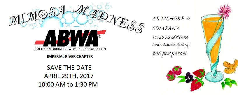 ABWA Imperial River Mimosa Madness Brunch April 29 2017