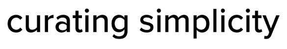 Curating Simplicity Logo