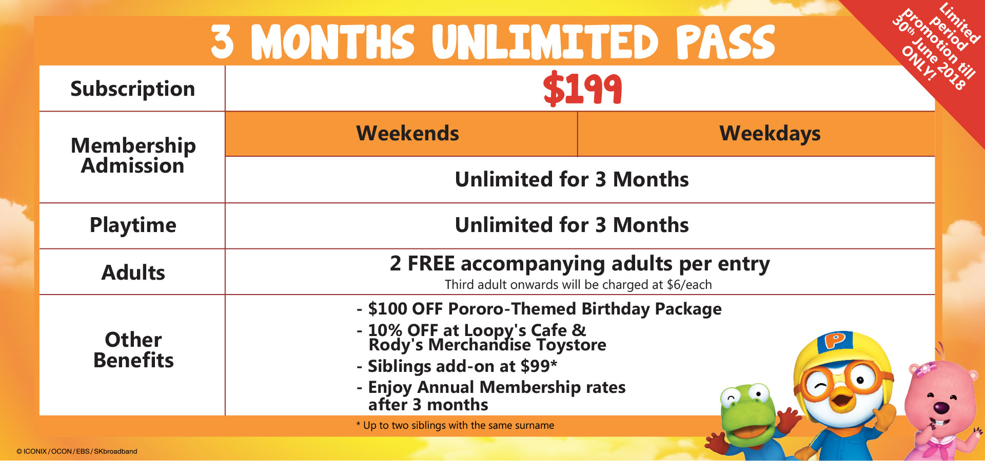 $199 3-Months Unlimited Membership
