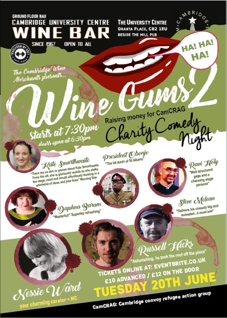 CamCRAG Winegums comedy night