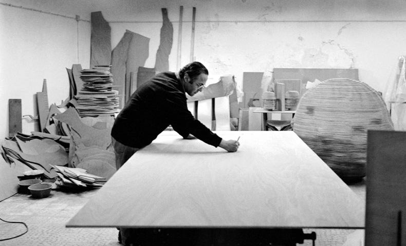 Rui Sanches dans son atelier à Lisbonne, 1999
