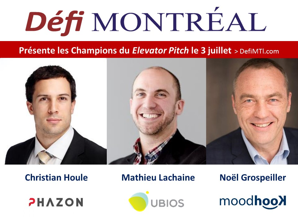 Coaches Champions de l'Elevator Pitch