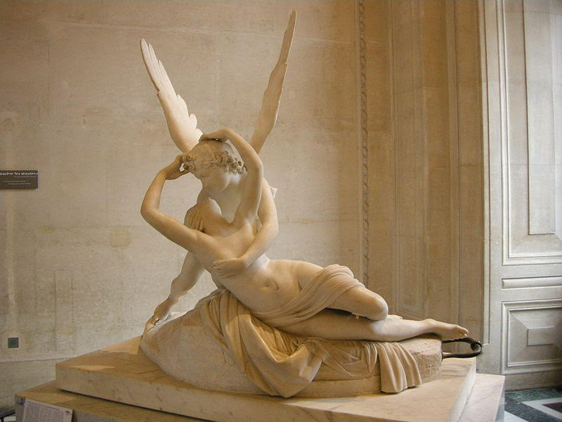 Antonio Canova's Psyche Revived by Cupid's Kiss