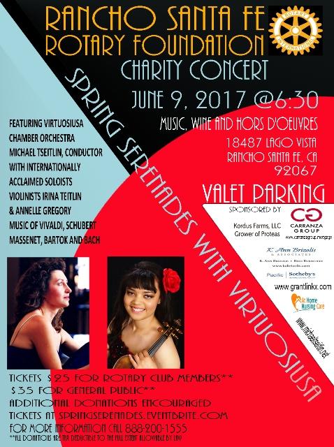 Spring Serenades Concert Flyer with Sponsors