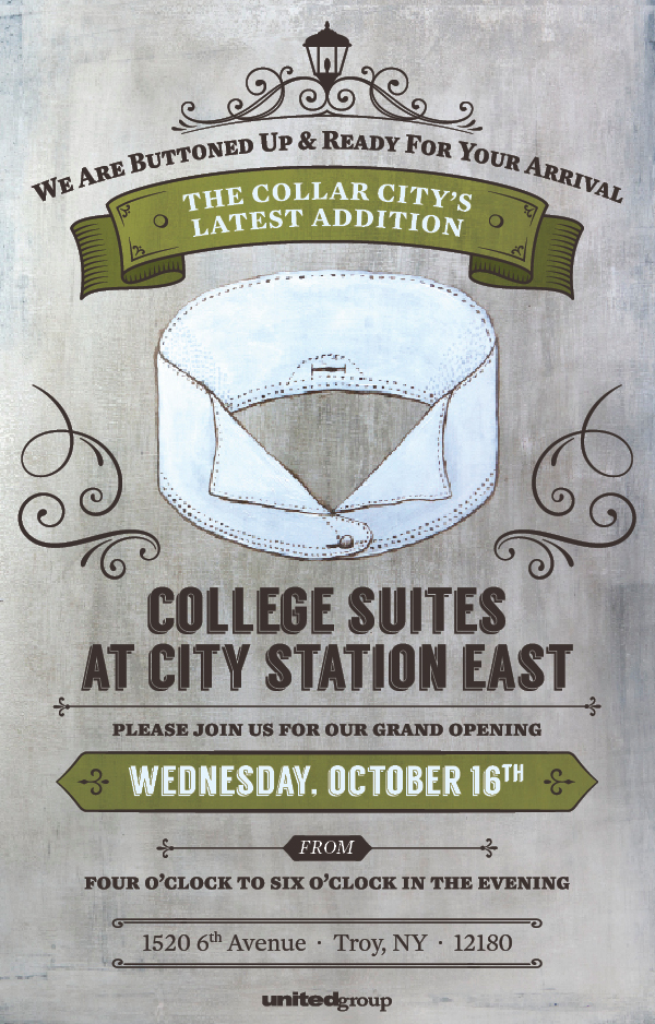 We are buttoned up and ready for your arrival! COLLEGE SUITES AT CITY STATION EAST, GRAND OPENING - WEDNESDAY, OCTOBER 16, 4-6 PM