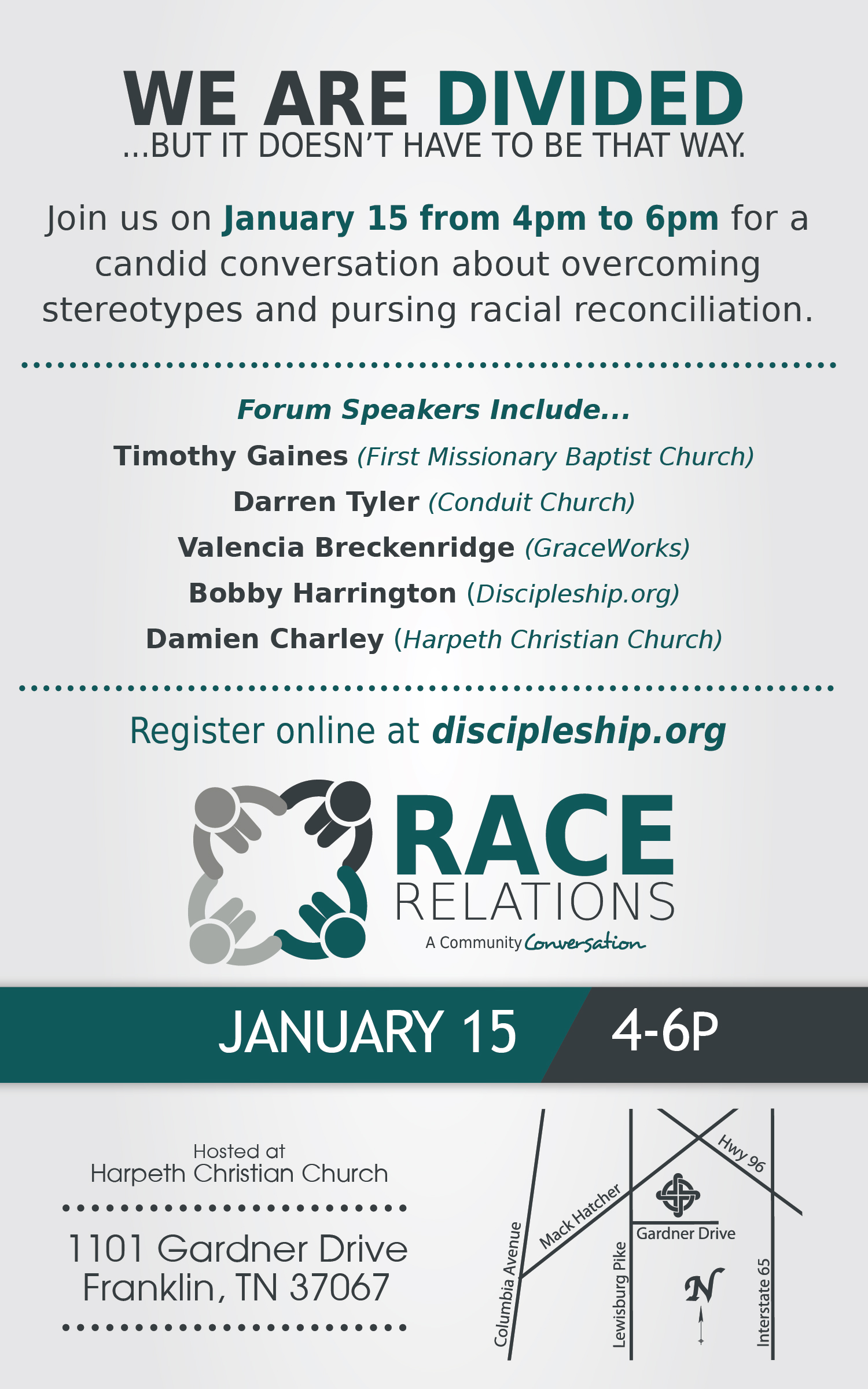 Race Relations Forum flyer