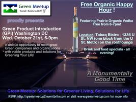 Green Meetup Happy Hour and Green Product Introduction