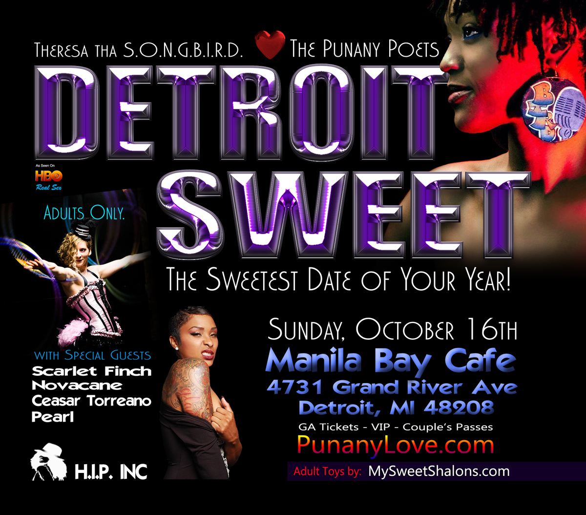 The Punany POets in Detroit, MI for Sweetest Day