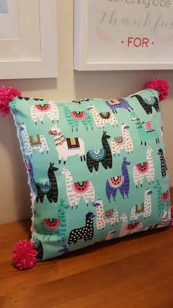 llama cushion