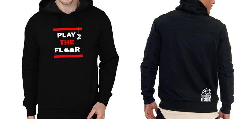Play the floor hoodie