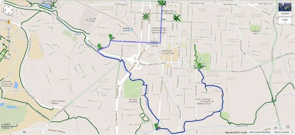 Capital City Bike Ride route