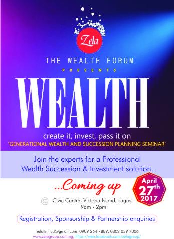 The Wealth Forum by Zela flyer