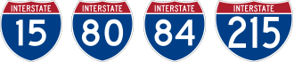 Interstates 15, 80, 84, and 215
