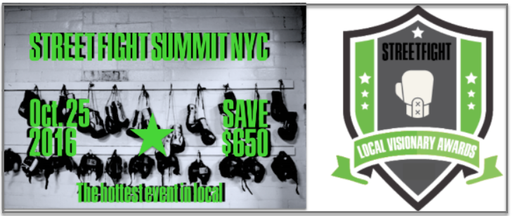 Street Fight Summit 2016 and Local Visionary Awards 2016