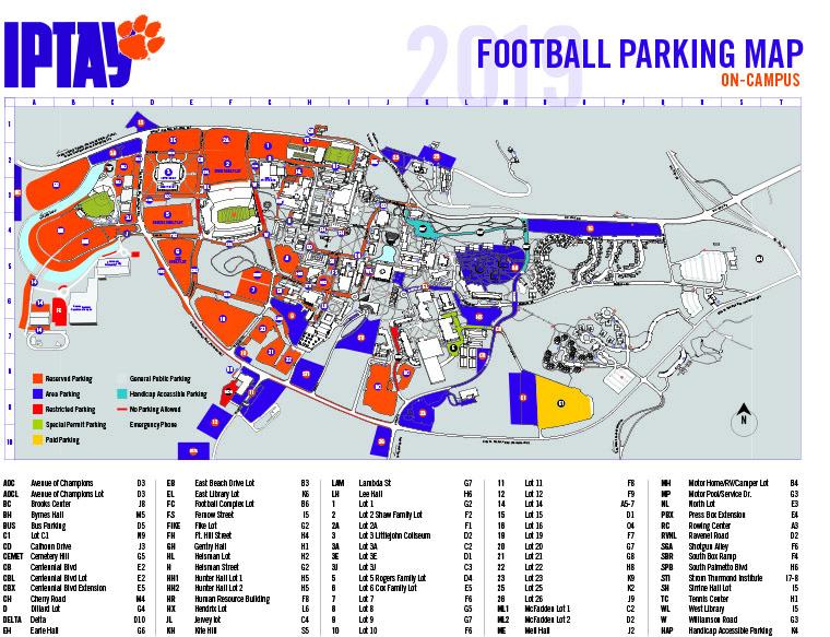 2019 Clemson Football Parking Map-1