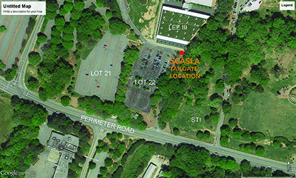 scasla tailgate location in front of Lee III Lot 22