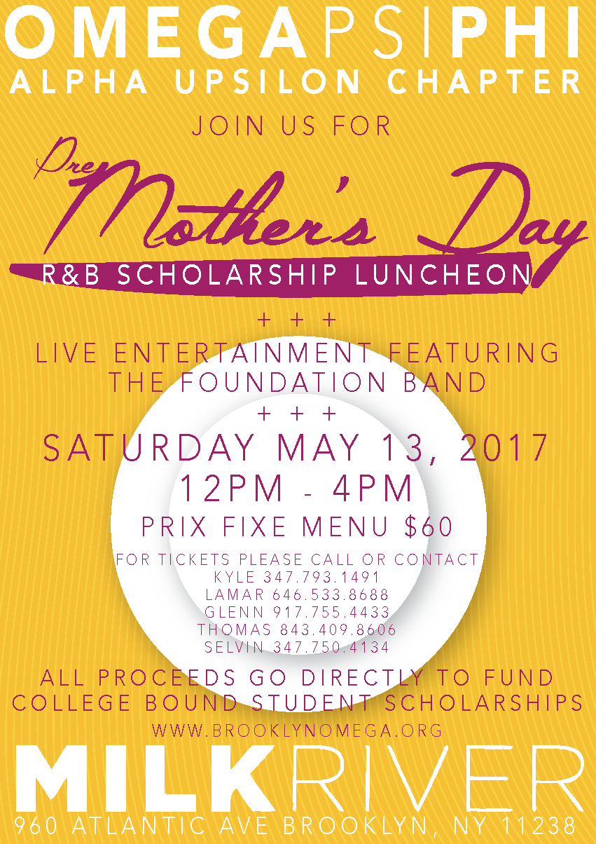 Pre-Mother's Day R&B Scholarship Luncheon