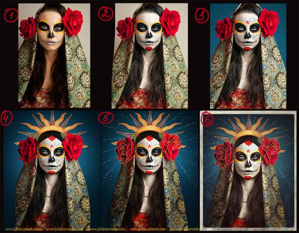 Dia De Los Muertos Art Process