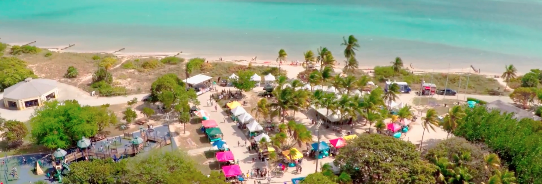 aerial photo of ArtSea 2017 Historic Virginia Key Beach Park