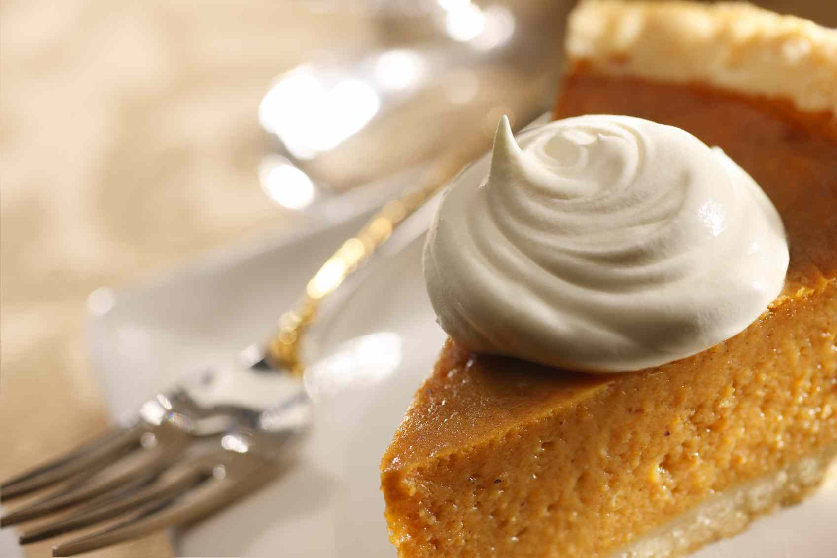 Sweet Spiced Pumpkin Pie with Cream