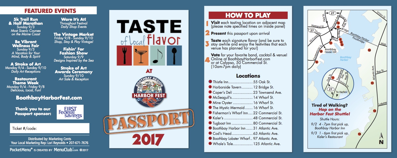 Harbor Fest Passport
