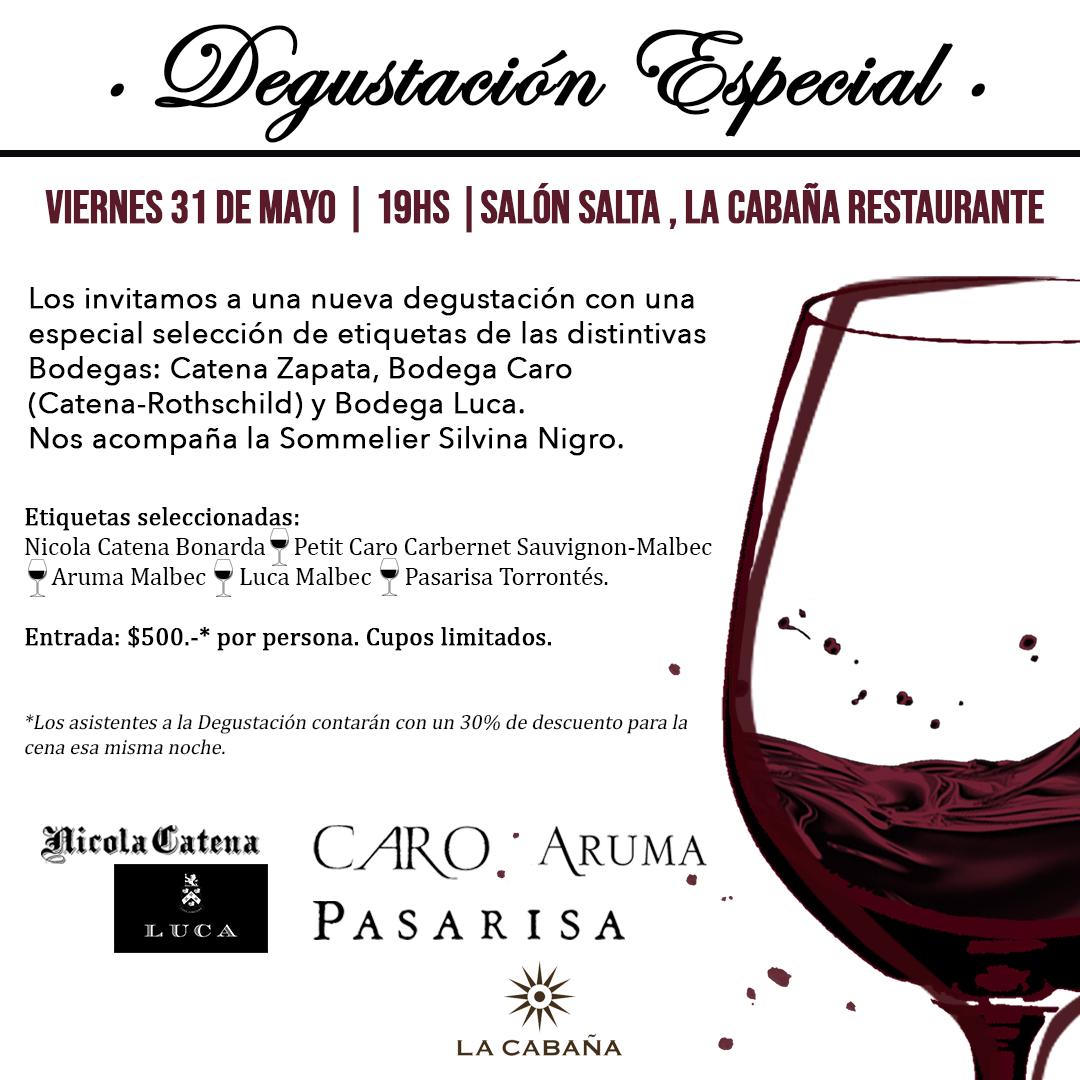 Degustacion Premium 31-5 en La Cabaña