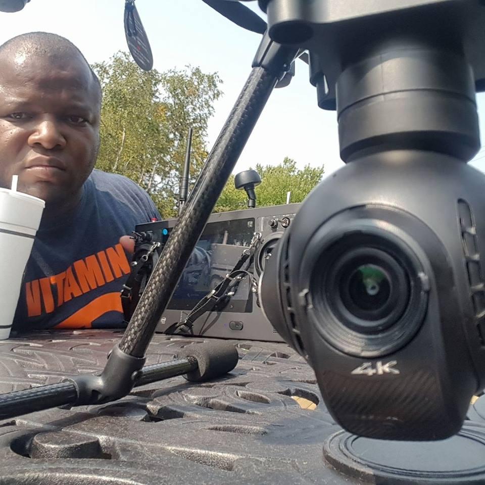 Seann with drone