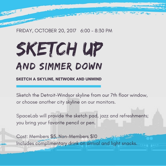 Sketch Up and Simmer Down flyer with info